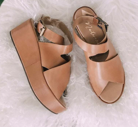 Matisse Leather Wedge