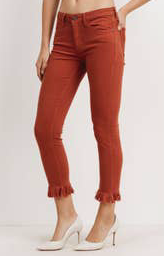 Crop Skinny W/Fringe - Copper