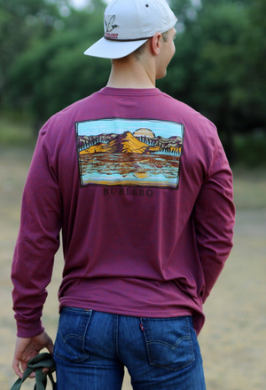 Hidden Fish L/S TShirt - Burlebo Men's