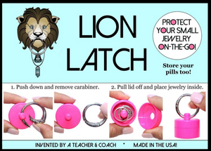 Lion Latch Jewelry Tote