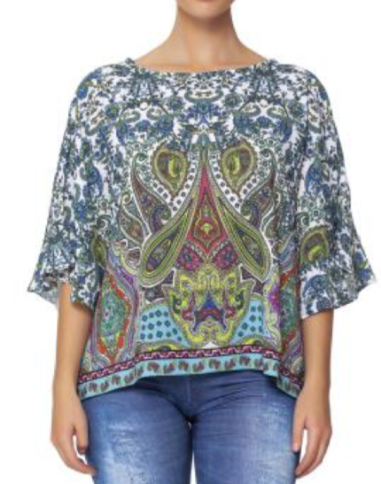Goddess Flutter Sleeve Top -(Isle by Melis Kozan)