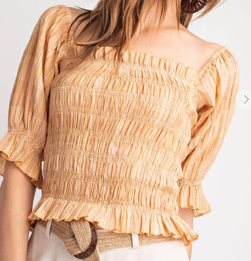 Smocked Bodice Top