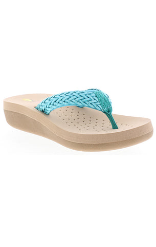 Volatile-Seashore---Braided-Upper-Thong-Sandal---KIDS