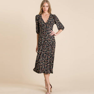 Veveret - Soft knit floral Midi dress