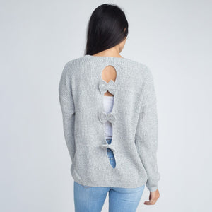 Sweater-with-back-bow-detail---Grey