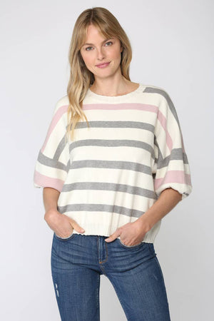 FATE - STRIPE KNITTED SWEATER TOP (FW3321)
