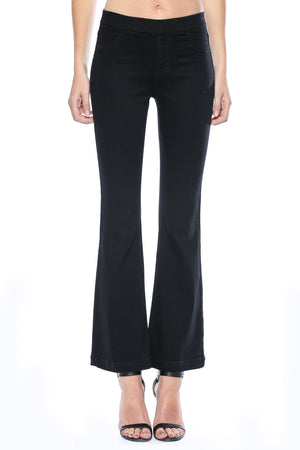 Black Flared Jegging Jeans