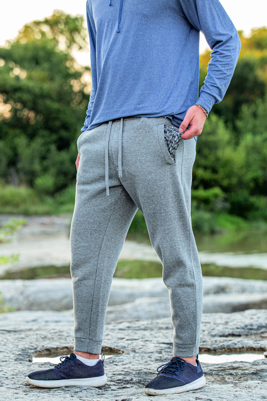 BURLEBO - Dark Gray Fleece Joggers