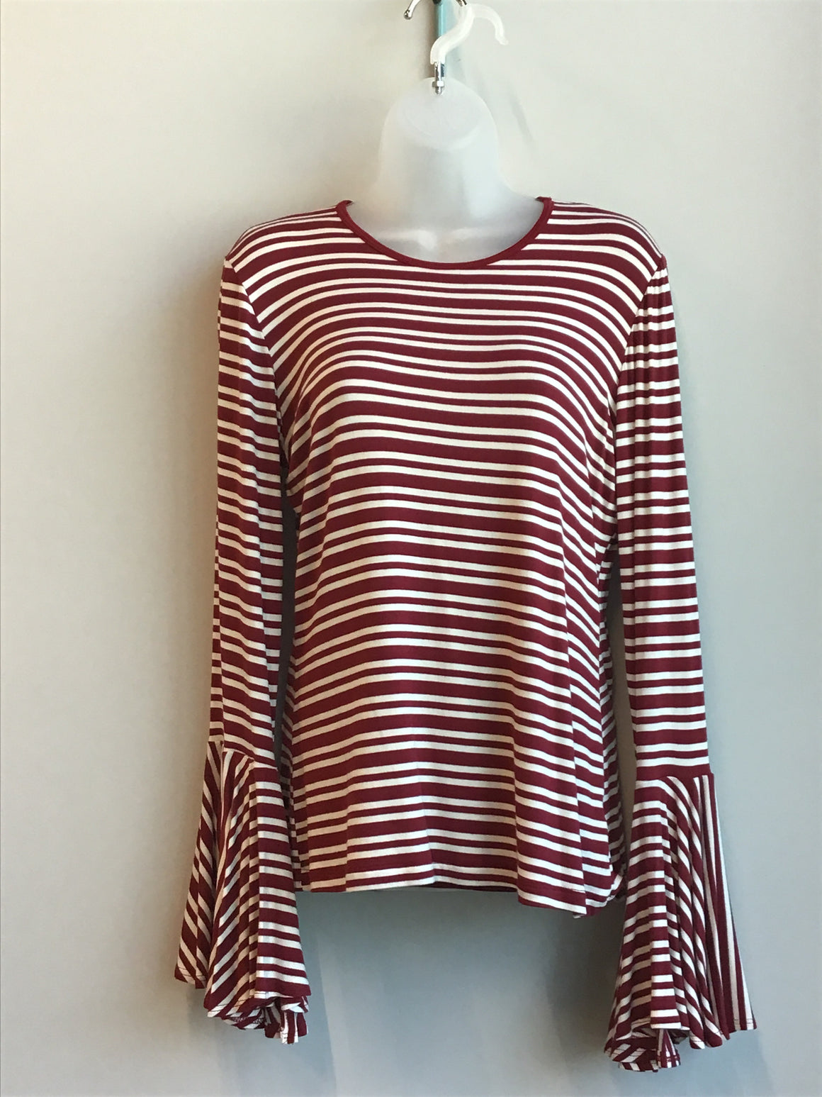Boho-Jane---Game-Day-Triumph-Stripe-Crew-Neck-Bell-Sleeve--Trendy-and-Chic-Top