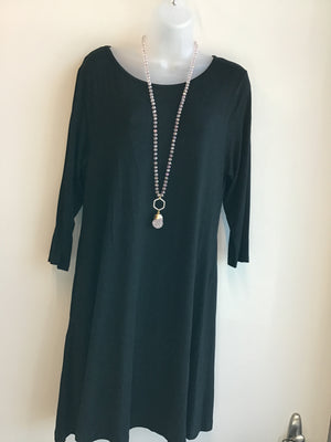 Quarter Sleeve Pocket Dress