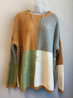 ZZColor Block Sweater