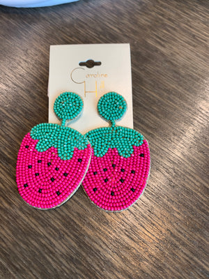 Strawberry Fields Forever Earrings.