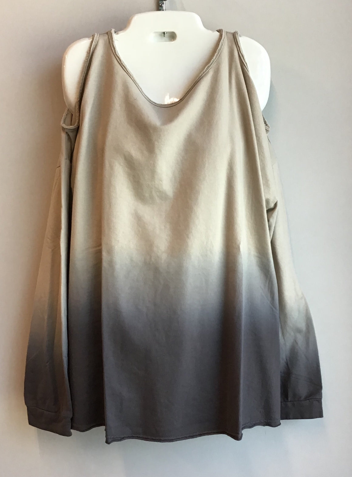 Cold Shoulder Dip Dye Sweatshirt