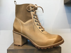 Smooth Leather Lace-up Combat-Style Ankle Boots