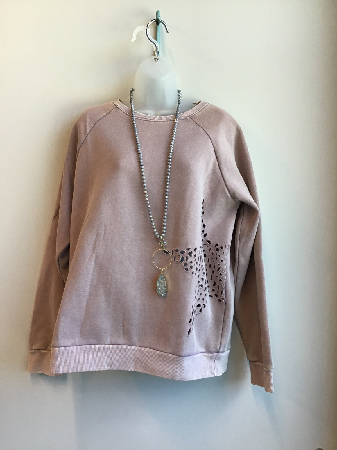 Star Cutout Sweatshirt