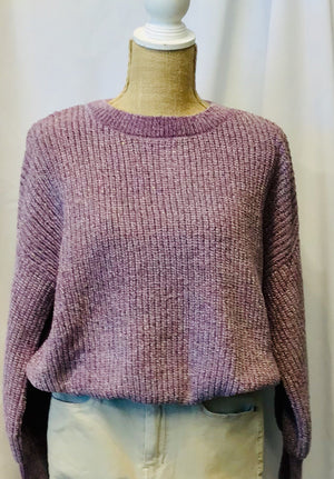 Sparkly Chenille Pullover