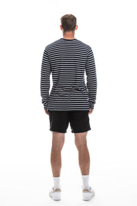 long sleeve stripe dalmor t-shirt