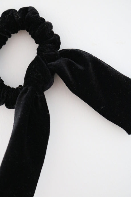 Midnight Bow Scrunchie