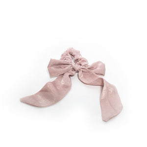 Small Scrunchie Scarf - Dusty Rose Silk