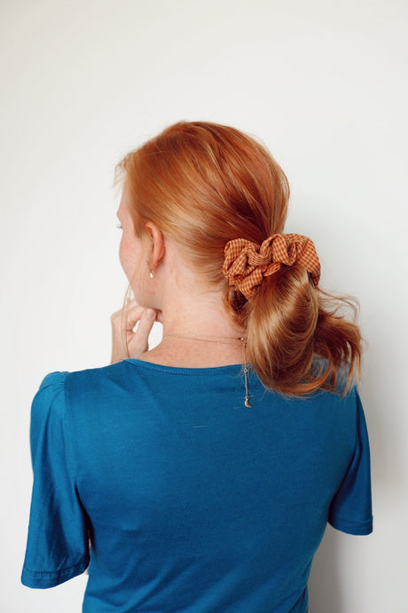 Fall Plaid Scrunchie
