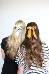 Polka Dot Scrunchie Scarves
