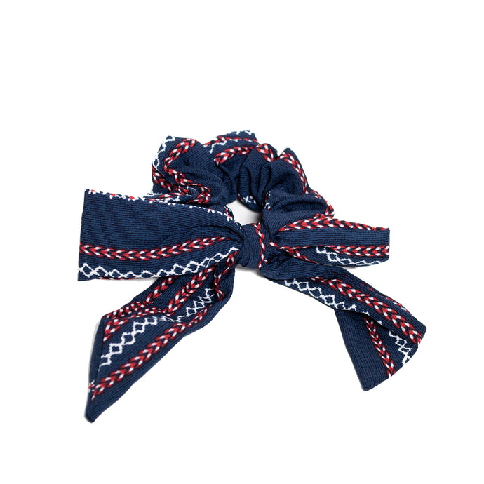 Small Scrunchie Scarf - Navy Sailor