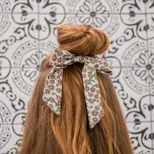 Small Scrunchie Scarf - Grey Floral
