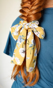 Small Scrunchie Scarf - Sunny Floral