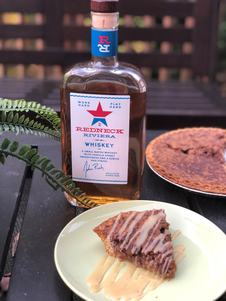 Rib Rub and Redneck Riviera Whiskey Pecan Pie with Maple Whiskey Cream Sauce