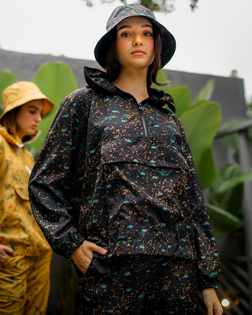 SKY DOTS POCKET NYLON BLACK