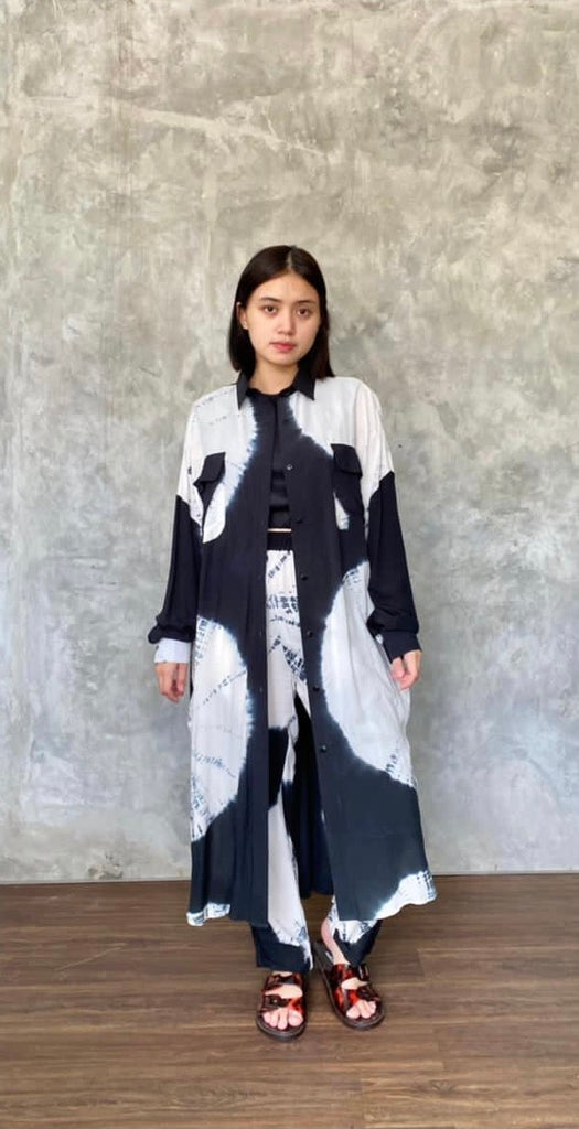 TIE DYE ROUNDY LONG OUTER