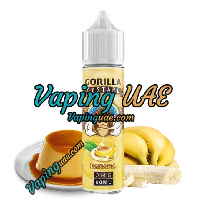 Banana by Gorilla Custard E-Liquid 60mL - Shop vape juice in dubai, Abu dhabi & sharjah - Vape UAE
