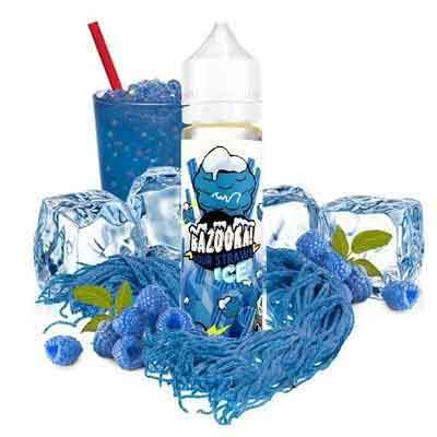 Blue Raspberry Sour Straws ICE Ejuice by Bazooka! Vape