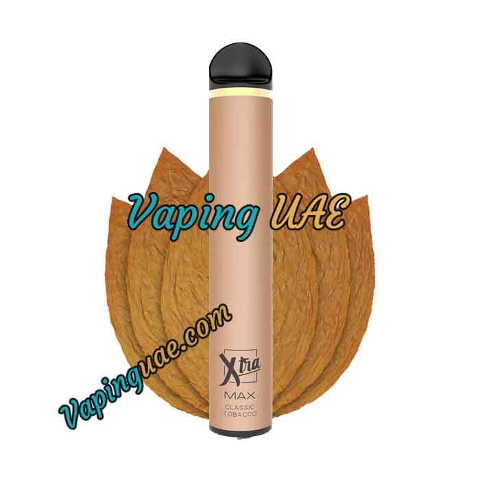 Classic Tobacco Xtra MAX Disposable Vape Pod - 2500 Puffs - Vaping UAE