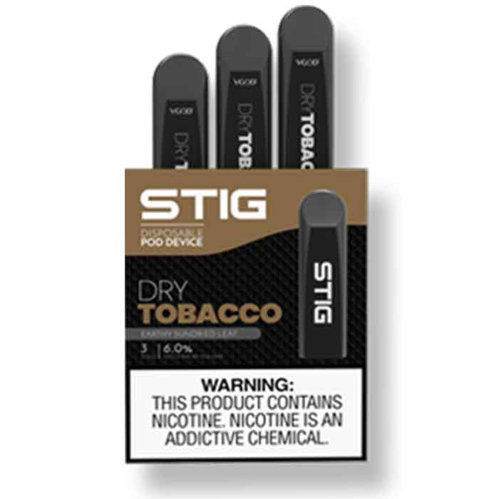 Dry Tobacco Stig Disposable Pod Device - Vaping UAE