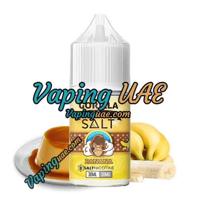 Gorilla Custard Salt - Banana - 30ML - Vaping UAE