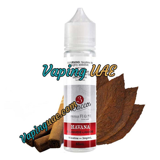 Havana - 3baccos E-Juice - 60mL - Vaping UAE