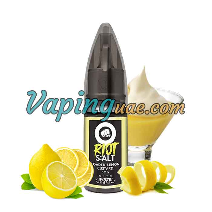 Loaded Lemon Custard Hybrid Salt By Riot Squad - Vaping UAE