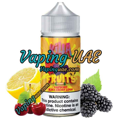 Raspberry Black Cherry Lime Killa Fruits E-Liquid 100mL - Dubai & Abu Dhabi Vape