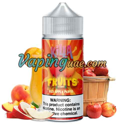 Red Apple Peach - Killa Fruits E-Liquid - 100mL - Vaping UAE