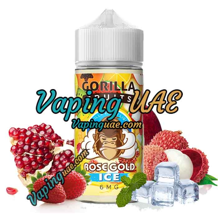 Gorilla Fruits E-Liquid - Rose Gold Ice - Vaping Dubai