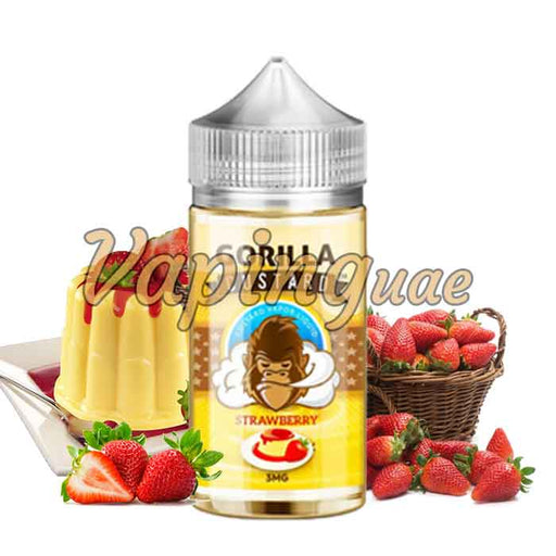 Strawberry By Gorilla Custard Eliquid - 100ML - Vaping UAE