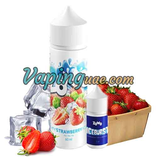 Strawberry ICE with Booster By ZOMO Eliquid - Vaping UAE