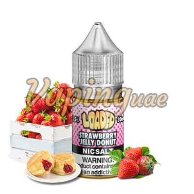 Strawberry Jelly Donut Nicotine Salts By Loaded - Vaping UAE