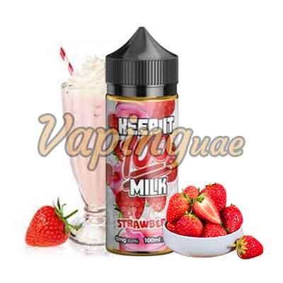 Strawberry Milk By Keep It 100 - Vaping UAE