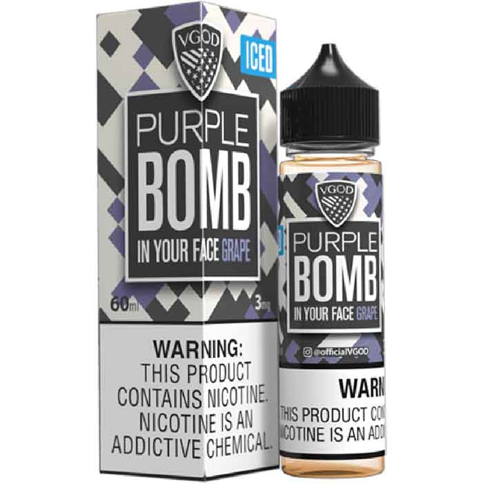VGOD Iced Purple Bomb E Juice - 60mL - vape shop abu dhabi