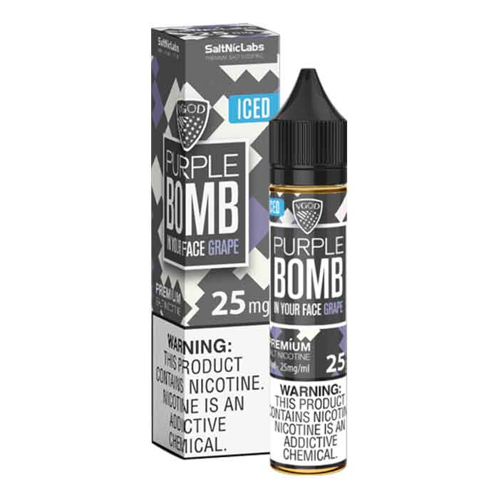 VGOD Iced Purple Bomb SaltNic - 30mL - Abu Dhabi Vape - Vaping UAE