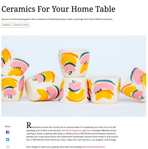 Michelin Guide: Ceramics For Your Home Table