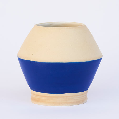 Blue Bottom Planter