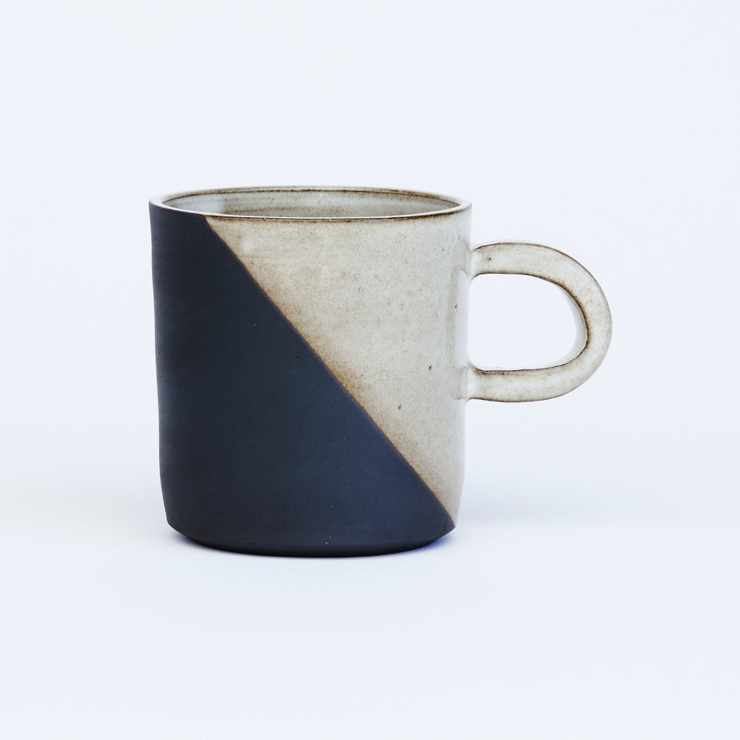 Rustic Black and White Mug